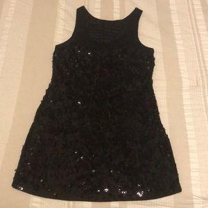 Black Sequin Mini-Dress